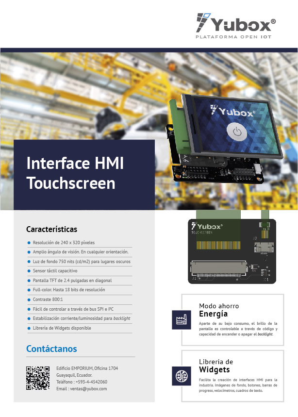 HMI Display Touch